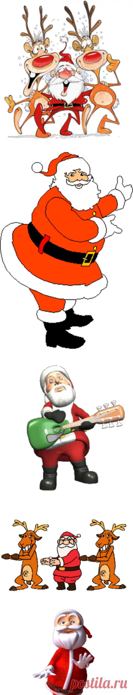 Танцующий дед Мороз Gif - Календари и другая графика