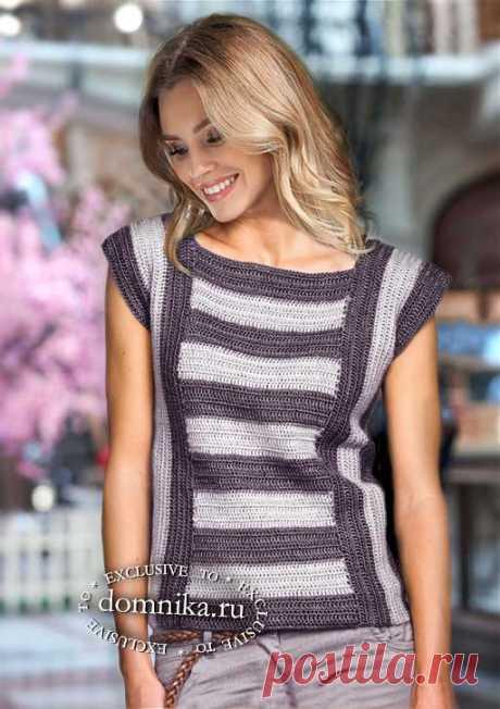 Модная кофточка в полоску - оригинальная летняя модель для женщин