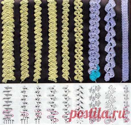 Румынское кружево: схемы в натуральную величину, вязание пошагово