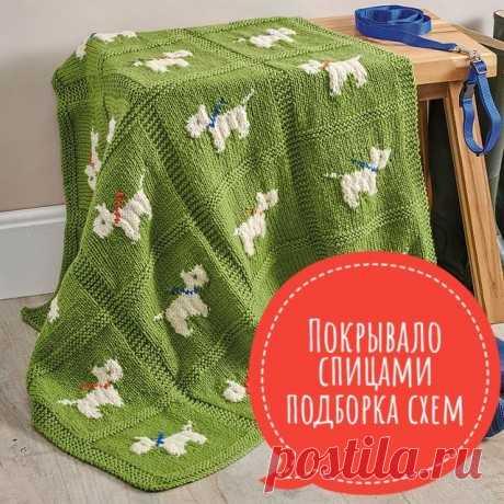 Покрывало спицами, 25 авторских схем и описаний для вязания, Вязание для дома