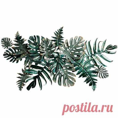 Настенный декор Листья тропические 1346х749х89 см - купить за 12400 руб. в интернет-магазине DG-Home