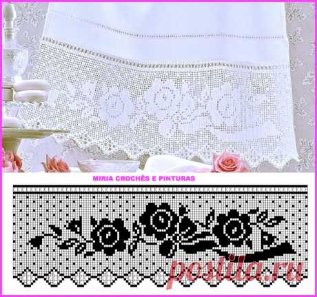 Knitted, very beautiful border, big selection.