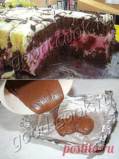 Хорошая кухня - шоколадный торт со сливочно-вишнёвым кремом. Кулинарная книга рецептов. Салаты, выпечка.