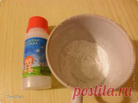 Холодный фарфор из детской присыпки