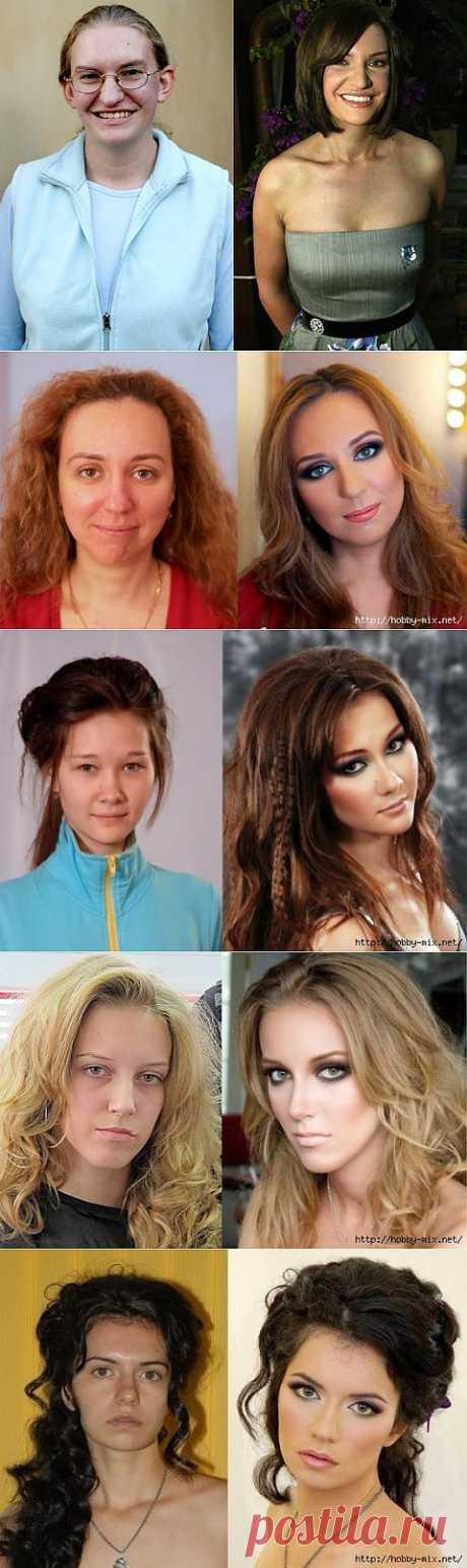 Make-up miracles.