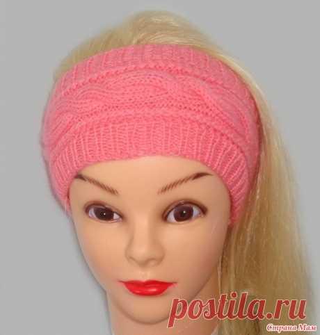 Широкая повязка на голову. Вязание повязки на голову спицами Связала для своих дочек чудесные повязки на голову для весны. Хочу поделиться ими с Вами. Может кому-то пригодится.  Вам понадобится:  30-50 г.