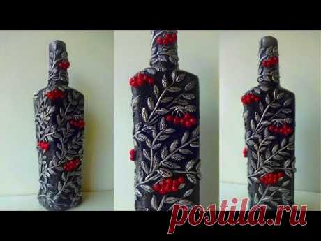 Glass Bottle Decoration Ideas/ DIY Bottle Craft/ Bottle Art