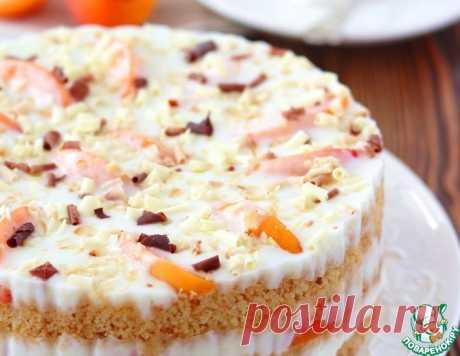 """Торт """"Йогуртовый"""" с абрикосами без выпекания – кулинарный рецепт"""