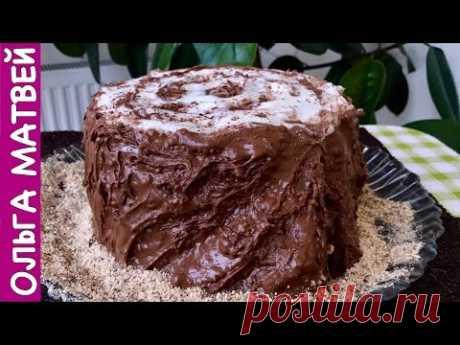 "La torta ""Трухлявый Пень"" Como Smetannik, Son aún más sabroso Solamente | Cake Rotten Tree Stump"