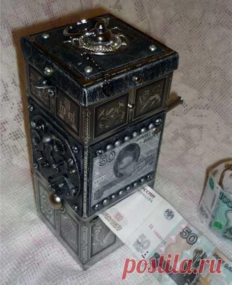 Хочешь подарить деньги? Дари денежный станок! (мастер-класс) / Упаковка подарков / ВТОРАЯ УЛИЦА