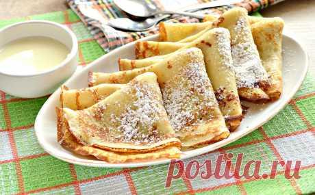 Блинчики тонкие по-французски - рецепт с фото пошагово