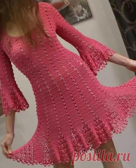 Женственное платье крючком