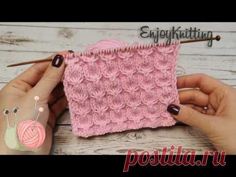 КРАСИВЫЙ Рельефный узор спицами ЗЕФИРКИ |  How to knit Beautiful air stitch pattern