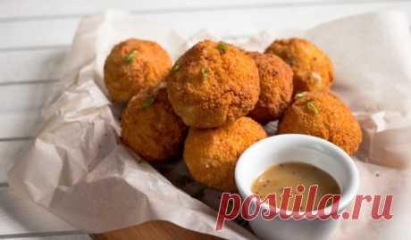 Картофельные шарики с брынзой и зеленью