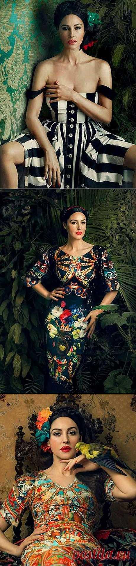 Mónica Belluchchi estupenda en el número de marzo ukrinskogo Harper's Bazaar