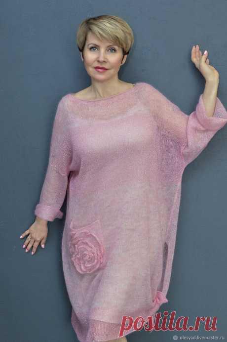 Платье-туника: Розовые розы – заказать на Ярмарке Мастеров – LND1ARU | Платья, Балашиха