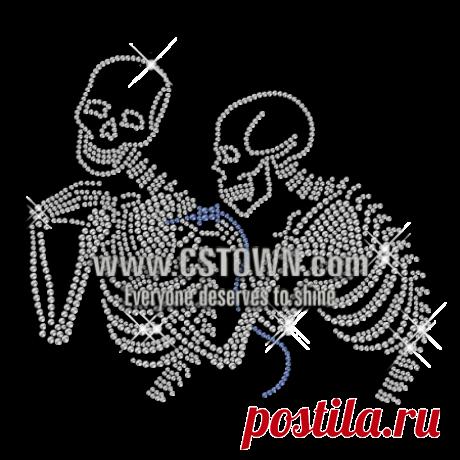 Rhinestone Skeleton Crystal Hotfix Motif for t shirt - CSTOWN
