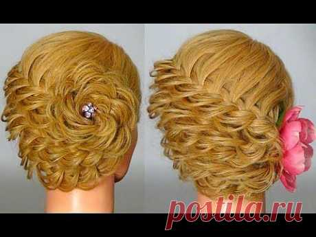 ▶ Прическа с плетением на Новый Год! Hairstyle for New Year - YouTube