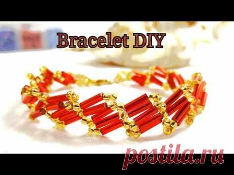 Bead and Bugle Bracelet Master Class / Браслет из Бисера и Стекляруса Мастер Класс