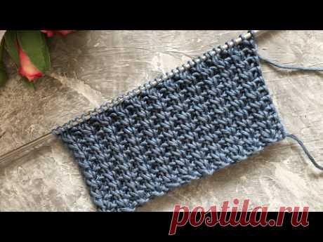 НЕ СКУЧНАЯ РЕЗИНКА! ВЯЖЕМ СПИЦАМИ.knitting pattern.