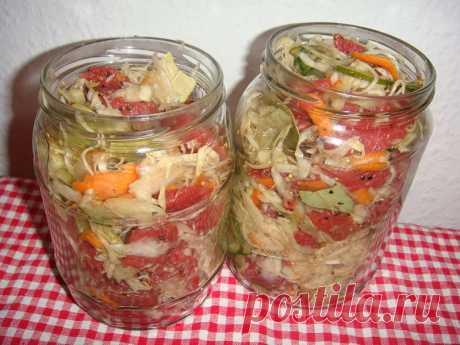 Stewed meat in bank with sauerkraut
