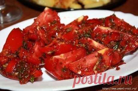 Невозможно вкусные помидоры по-корейски!