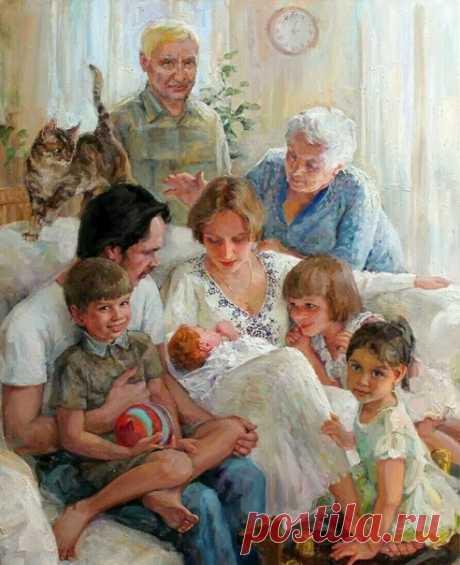 А главное, чтоб мы любили Родных и близких, чтоб ловили Их каждый взгляд и каждый вздох. Не смена всяческих эпох Важна, а то, как руку гладим Родную, как с родными ладим.  Лариса Миллер