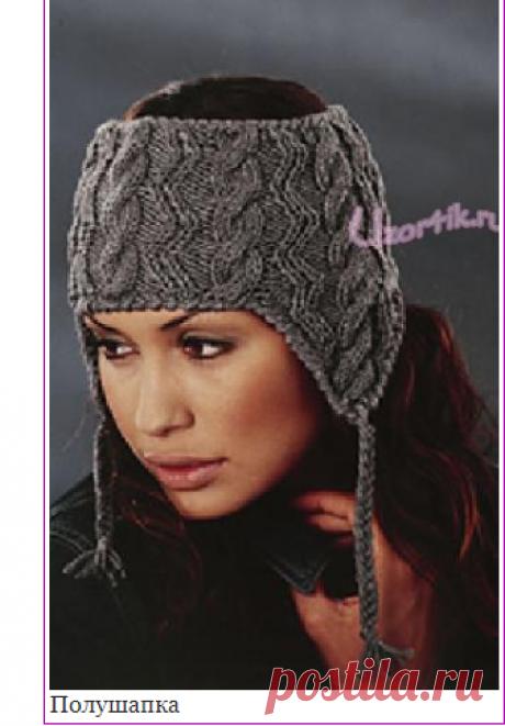 Semi-cap - the Description of knitting, the scheme of knitting by a hook and spokes   Узорчик.ру