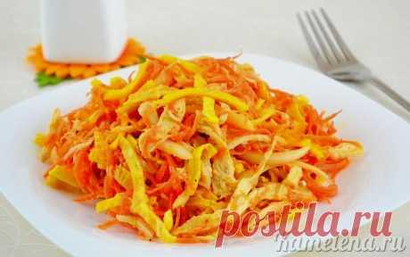 Оригинальный куриный салат с омлетной лентой » Женский Мир