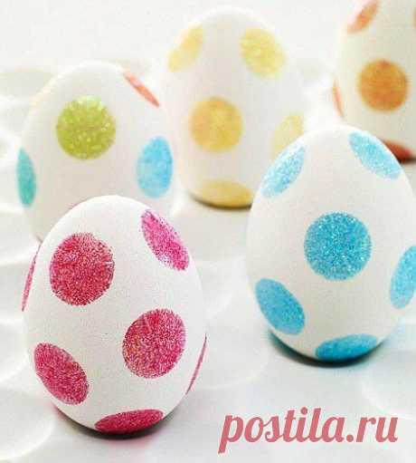 Декор яиц скотчем / Пасхальный интерьер
