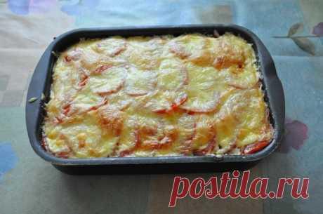 Запеканка из кабачков с фаршем и сметаной — Sloosh – кулинарные рецепты