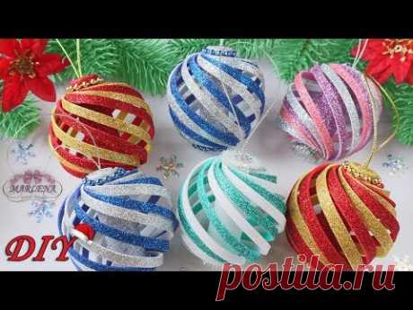 🎄 Christmas tree decorations 🎄 from foamiran / Christmas decor