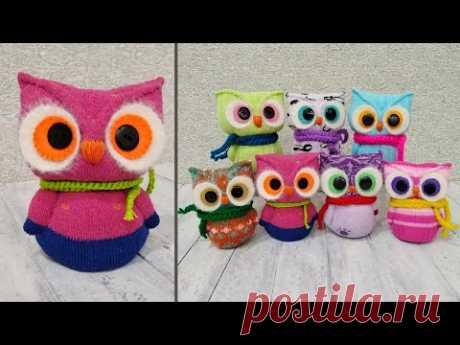 Как сделать совушку из носков 🦉 How to make a cute owl from socks
