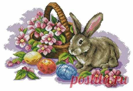 вышиваем пасхальных кроликов.