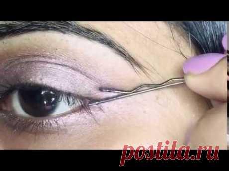 Bobby pin eyeliner hack!