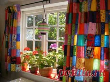 Лоскутные шторы - окна в стиле пэчворк | ПЭЧВОРК-ИДЕИ | Пэчворк • Квилтинг • Лоскутное шитье | Пэчворк • идеи
