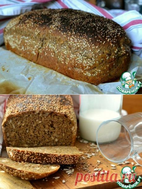 El pan oscuro con la amapola y las semillas - la receta de cocina