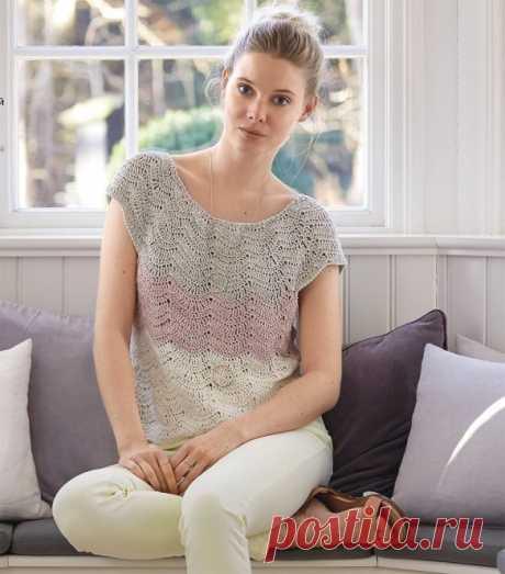 Женственный шелковый топ (Вязание крючком) – Журнал Вдохновение Рукодельницы