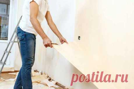 Несколько советов, позволяющих снять старые обои без пыли и грязи — Строительство и отделка — полезные советы от специалистов
