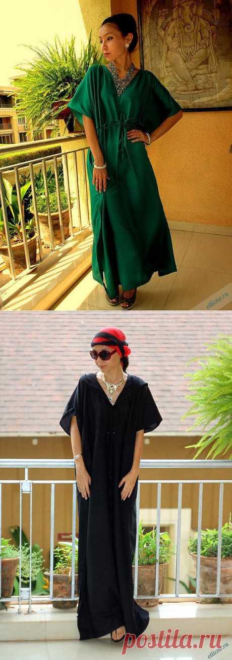 Как сшить пляжное платье-тунику на кулиске | Отлично! Школа моды, декора и актуального рукоделия