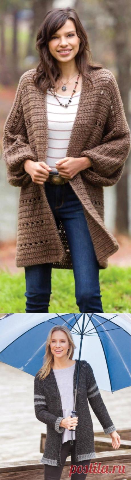 Пуловеры и кардиганы связанные крючком с описанием   Красивое и интересное вязание   Яндекс Дзен