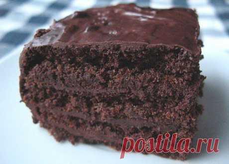 Шоколадный торт (без муки).