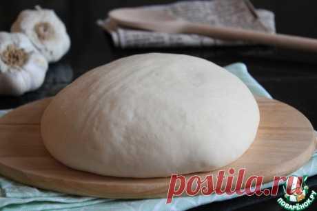 Тесто для очень тонкой пиццы Кулинарный рецепт
