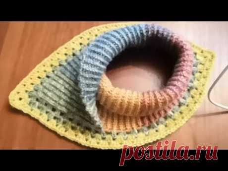 Манишка - шарф. Крючком.