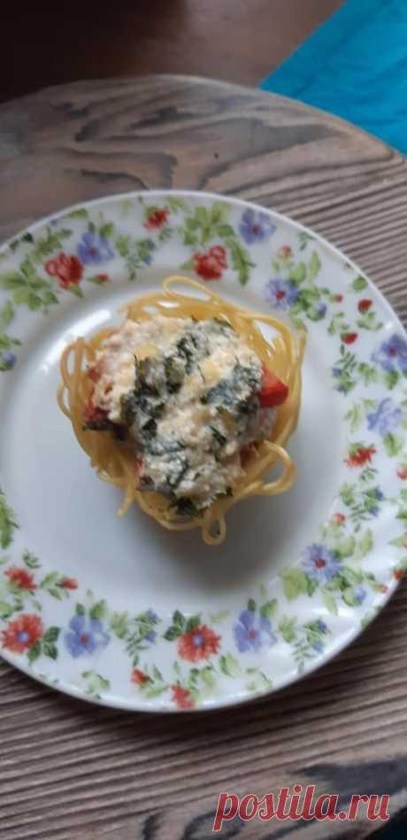 Макаронные гнезда. — Кулинарная книга - рецепты с фото