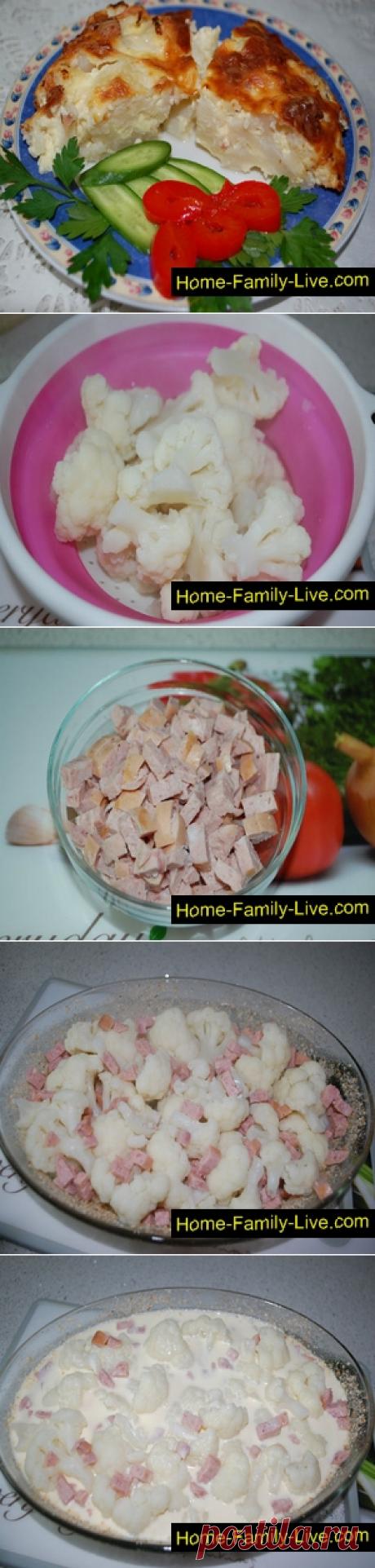 Запеканка из цветной капусты/Сайт с пошаговыми рецептами с фото для тех кто любит готовить