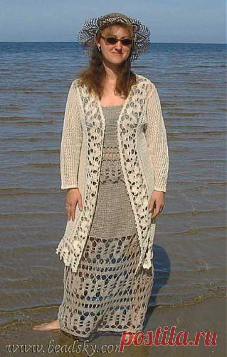 """We begin to knit – Video knitting lessons\"""" Bryuggsky lace – Video the Lesson No. 1 – \""""Snake\"""""""