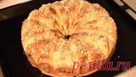 Сдобный пирог с яблоками. Воздушный пирог!