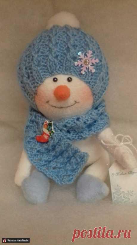 Снеговик в синей шапке ручной работы купить в Минске и Беларуси, цены на HandMade