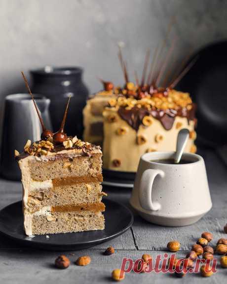 Торт «Ореховое безумие» с карамелью и карамельным кремом | Andy Chef (Энди Шеф)